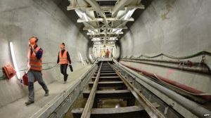 The excavation of the New Lyon-Turin Rail Link is controversial