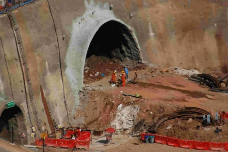 Work on India's longest road tunnel between Chenani and Nashri is nearing completion.