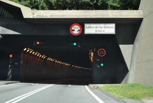 Gotthard Road Tunnel, Switzerland (from South)